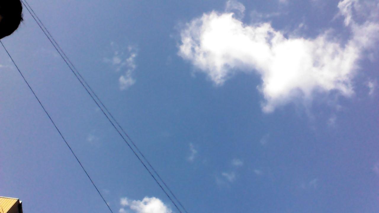 写真 青空 雲 名古屋市 20141123_1356