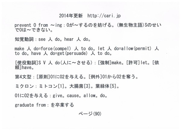 P90 2014 英語・雑学 w600